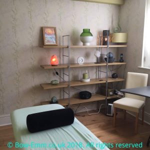 Therapy room at Salix Health and WellBeing